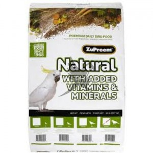 ZuPreem Natural - Complete Food for Parrots - Całoroczny granulat dla dużych papug Naturalny -9,07kg