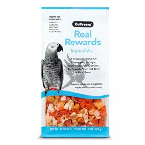 ZuPreem Real Rewards Tropical Mix for Large Parrots - Mix tropikalny dla średnich papug- 170g