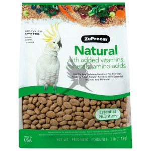 ZuPreem Natural - Complete Food for Large Parrot - Całoroczny granulat dla dużych papug Naturalny - 1,36kg