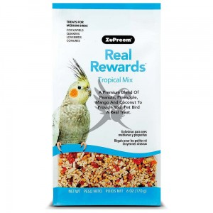 ZuPreem Real Rewards Tropical Mix for Medium Parrots - Mix tropikalny dla średnich papug- 170g